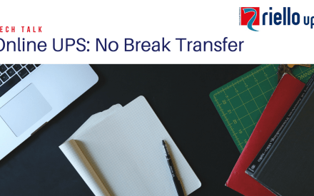 YouTube thumbnail image for Riello UPS no break power transfer TechTalk video