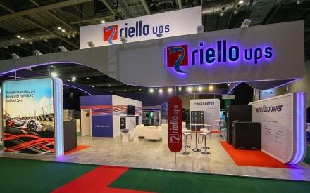 Riello UPS stand at trade show Data Centre World 2020