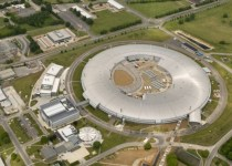 Overhead view of the synchrotron particle accelerator at Diamond Light Source