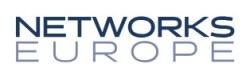 Networks Europe magazine logo, white background