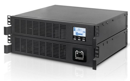 close-up of riello ups sentinel rack (SER) rack-mounted uninterruptible power supply