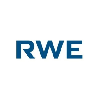 Logo of the RWE Group, blue text on a square white background
