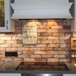 Kuchenruckwand Steinoptik Aus Steinverblendern Riemchenwerk