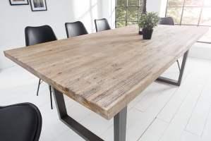 Massiver Esstisch WOTAN Akazie 200cm Massivholz Tisch ...