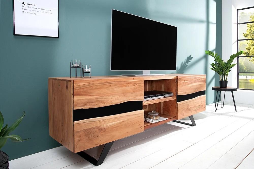 tv board 160cm akazie metall riess ambiente de