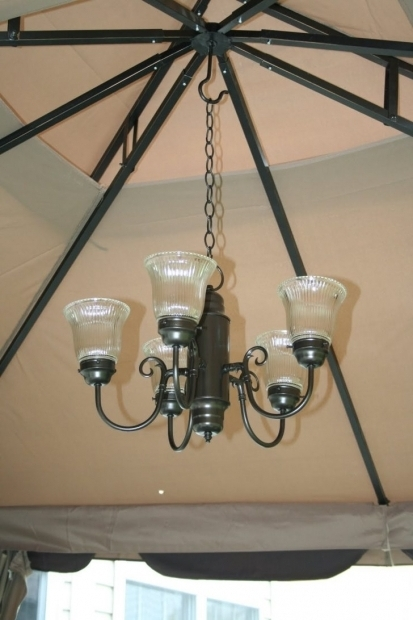 Solar Powered Chandelier For Gazebo Pergola Gazebo Ideas