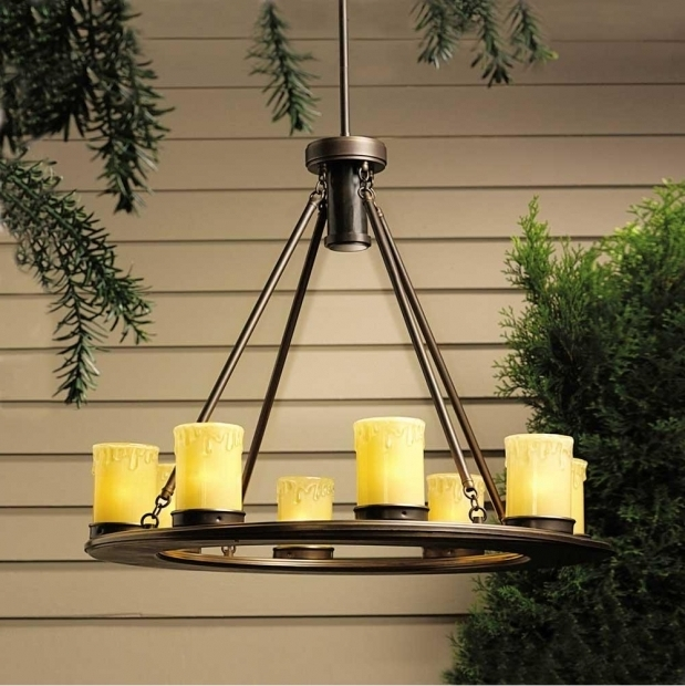 Amazing Battery Operated Outdoor Chandeliers For Gazebos Chandelier Ideas With