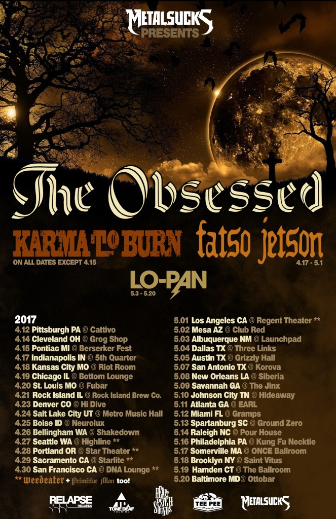 The Obsessed, Karma To Burn, Fatso Jetson, Lo-Pan Tour 2017