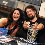 Bang's Merch Keeper and Jeremy of Conclave - Photo by Leanne Ridgeway