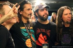 MDDF Organizer Mark with Demon Eye band members - Photo by Leanne Ridgeway