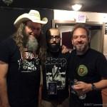 Kent Stump and Michael Walter of Wo Fat, with 'Joe King' (center) - Photo by Leanne Ridgeway