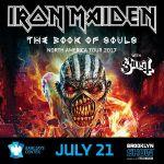 Iron Maiden - 7/21/17 Brooklyn Show Flyer