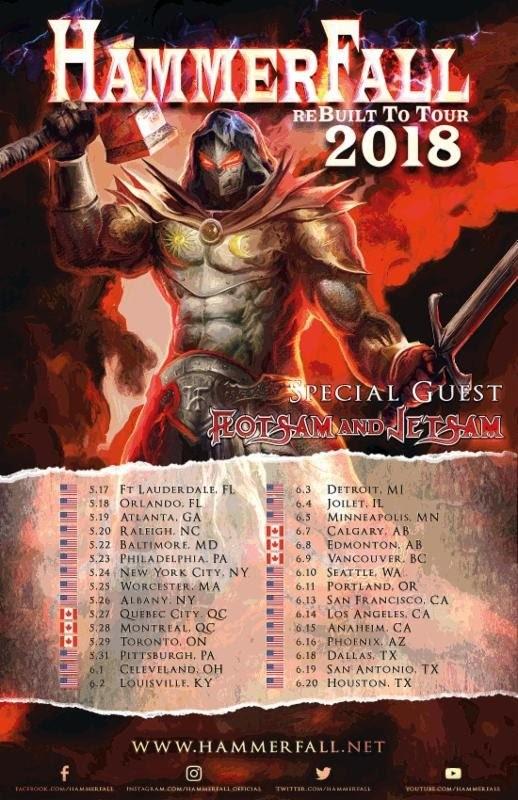 hammerfall tour 2018