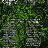FISTULA & COME TO GRIEF Announce May US Tour; Select Dates With COUGH, MIDMOURNER & NO FUNERAL