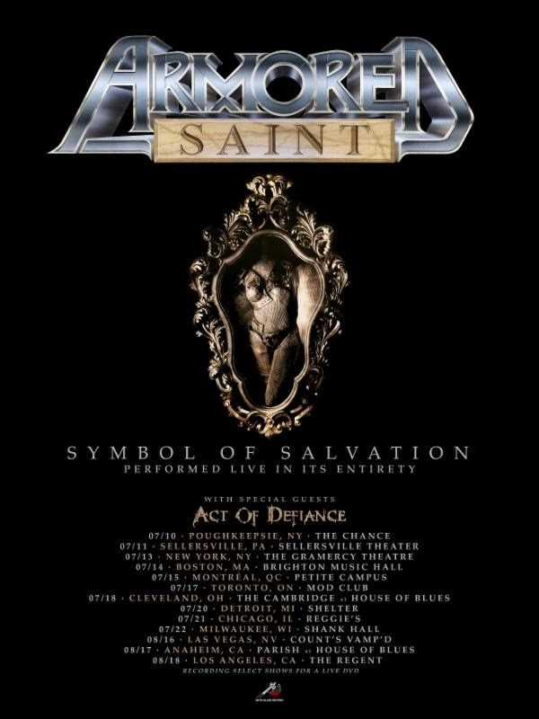 Armored Saint & Act Of Defiance Tour