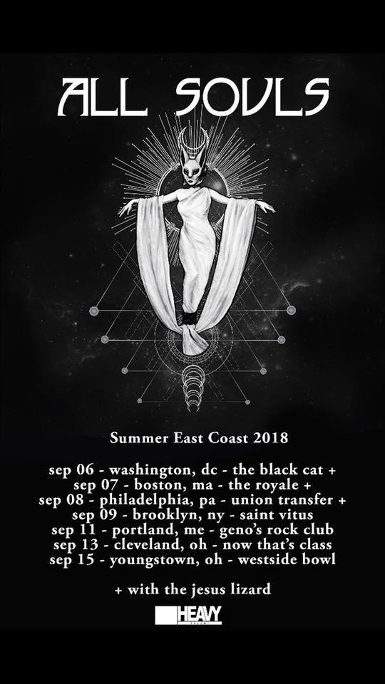 All Souls Schedule Sept U S East Coast Mini Tour Select Dates