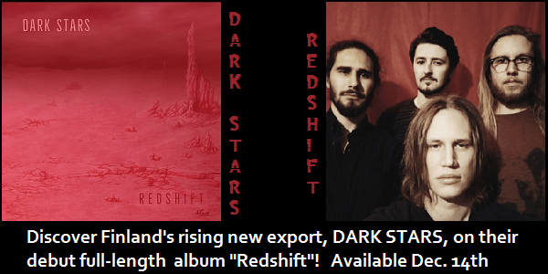 DARK STARS 'Redshift' Pre-Release Album Streaming Via FuzzHeavy Exclusive