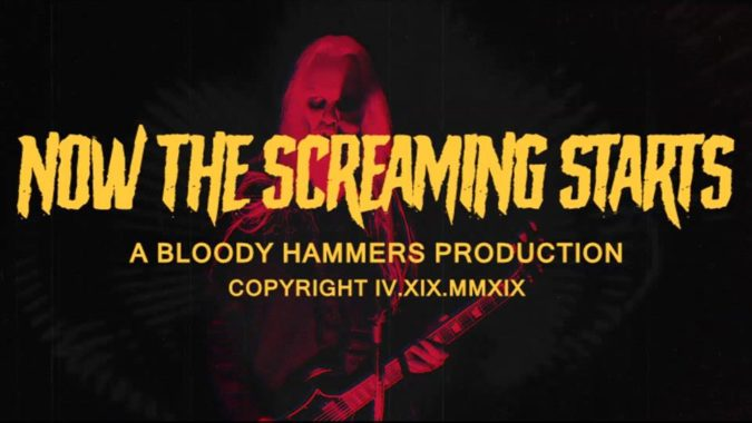 "BLOODY HAMMERS ""Now The Screaming Starts"" Video As ""The Summoning"" Album Due In June"