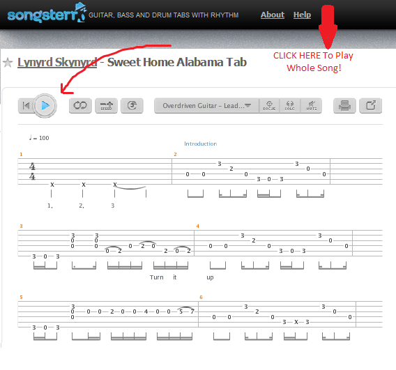 Lyrics and music composed by ronnie van zant, ed king & gary rossington. How To Play Sweet Home Alabama Lynyrd Skynyrd How To Play Easy Songs On Guitar Riffriff Com