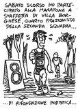 Saturday I ran a relay marathon, fourth member of team B, Rifondazione Podistica.
