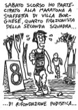 Saturday I ran a relay marathon, fourth member of team B, Rifondazione Podistica.