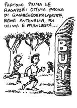 Girls run first. Great Gaia, then Antonella, Marcella and Francesca...