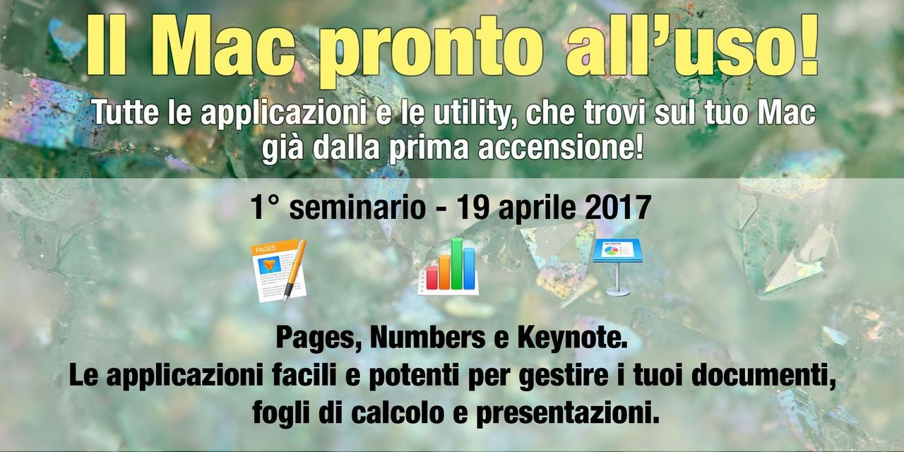 Seminario Pages, Numbers e Keynote