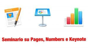 Seminario su Pages, Numbers e Keynote