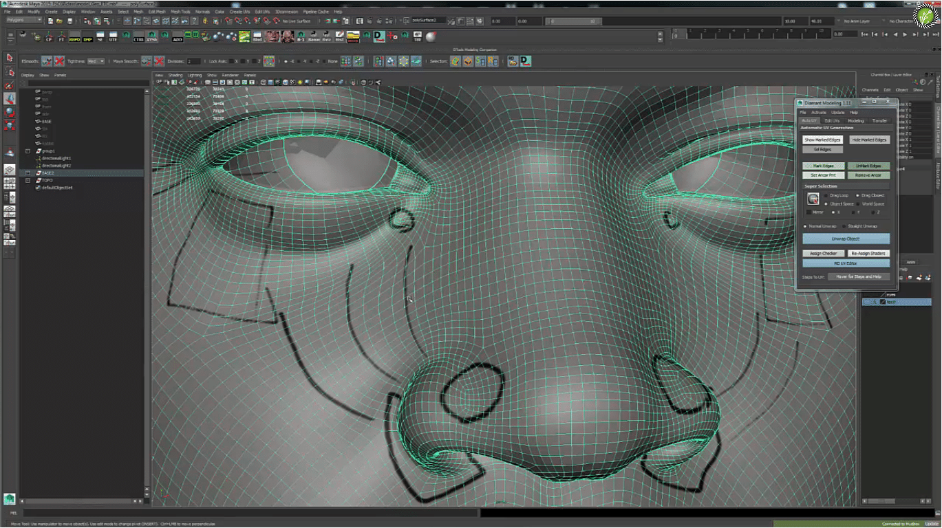 Production Sculpting F A C S Facial Blendshapes for VFX