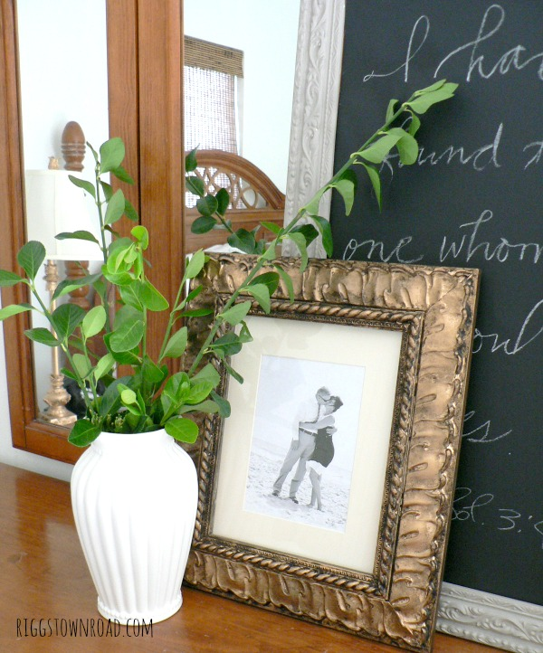 diy gold antique frame by riggstown road