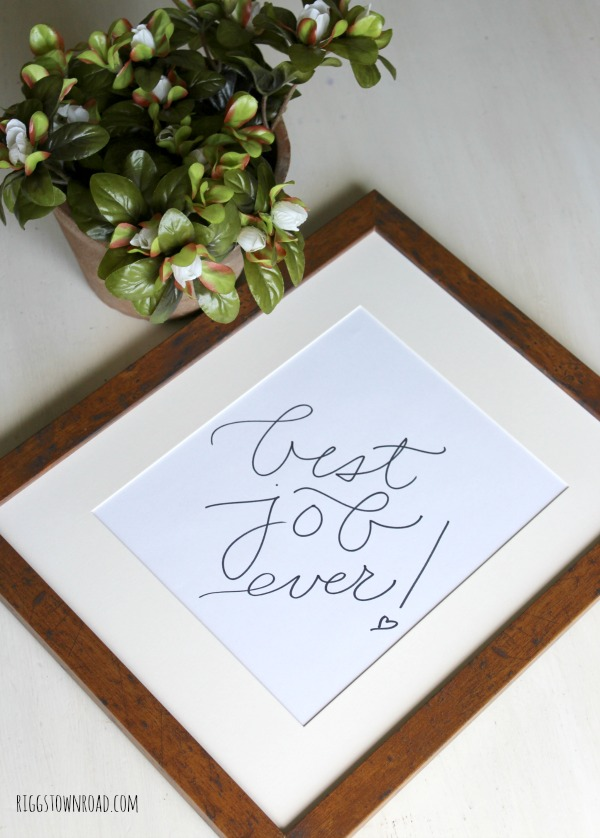 Free Hand-Lettered Printable!