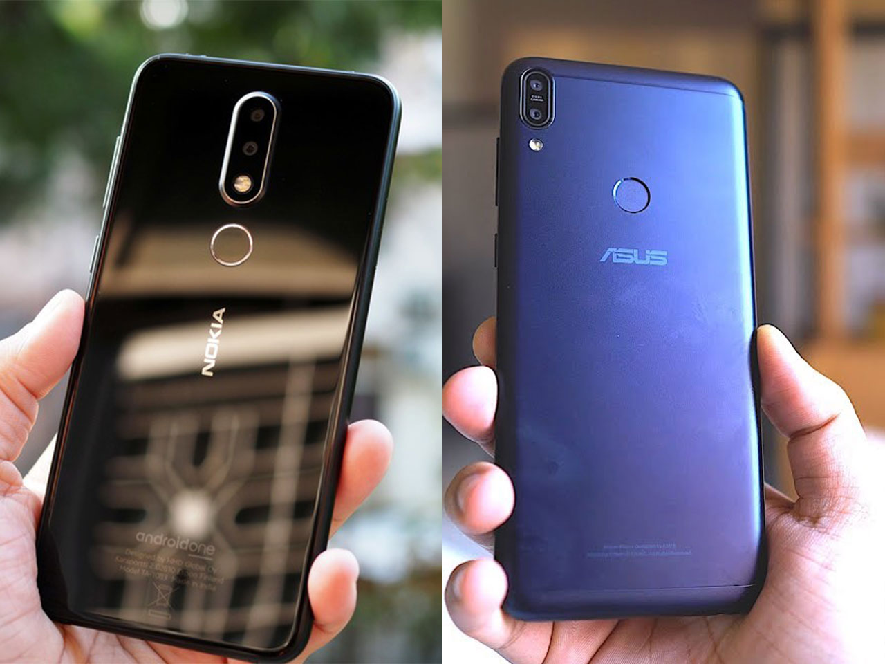 Nokia X6 with Asus Zenfone Max Pro M1