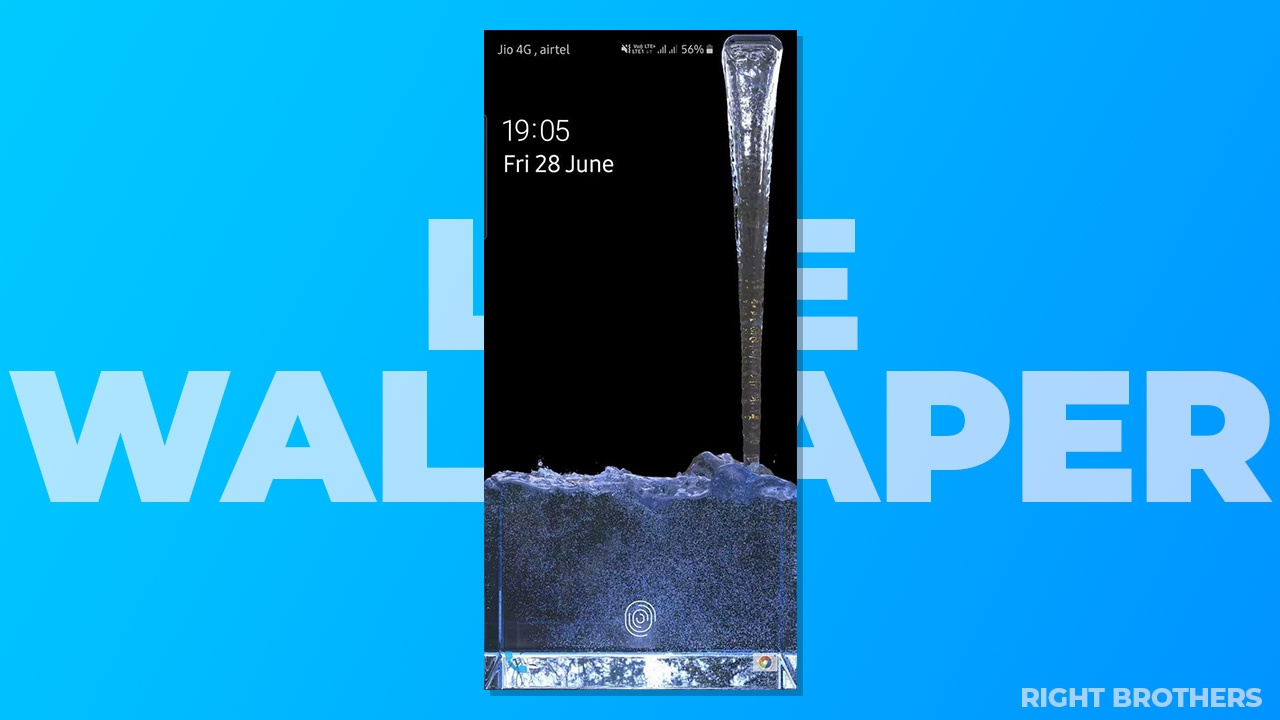 Download Water Falling From Camera Cutout Wallpaper For Samsung Galaxy S10 Plus