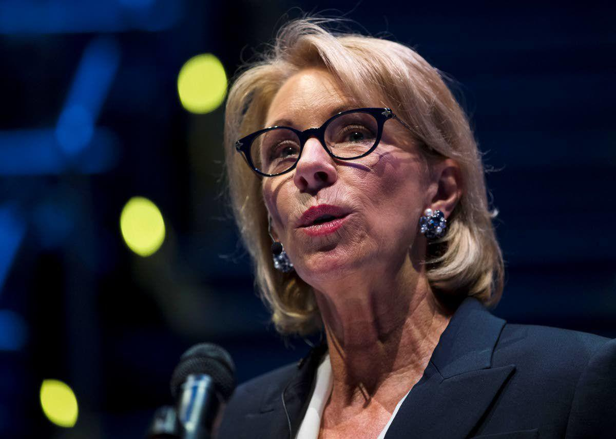 Betsy DeVos changes campus sexual misconduct rules