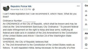 Republic, Washington, considers becoming a 'sanctuary city' to protect gun rights