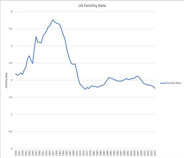 US Fertility Rate