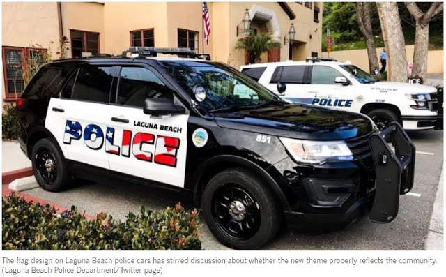 Laguna Beach votes to keep American flag on police cars