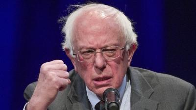 Sanders fist 1