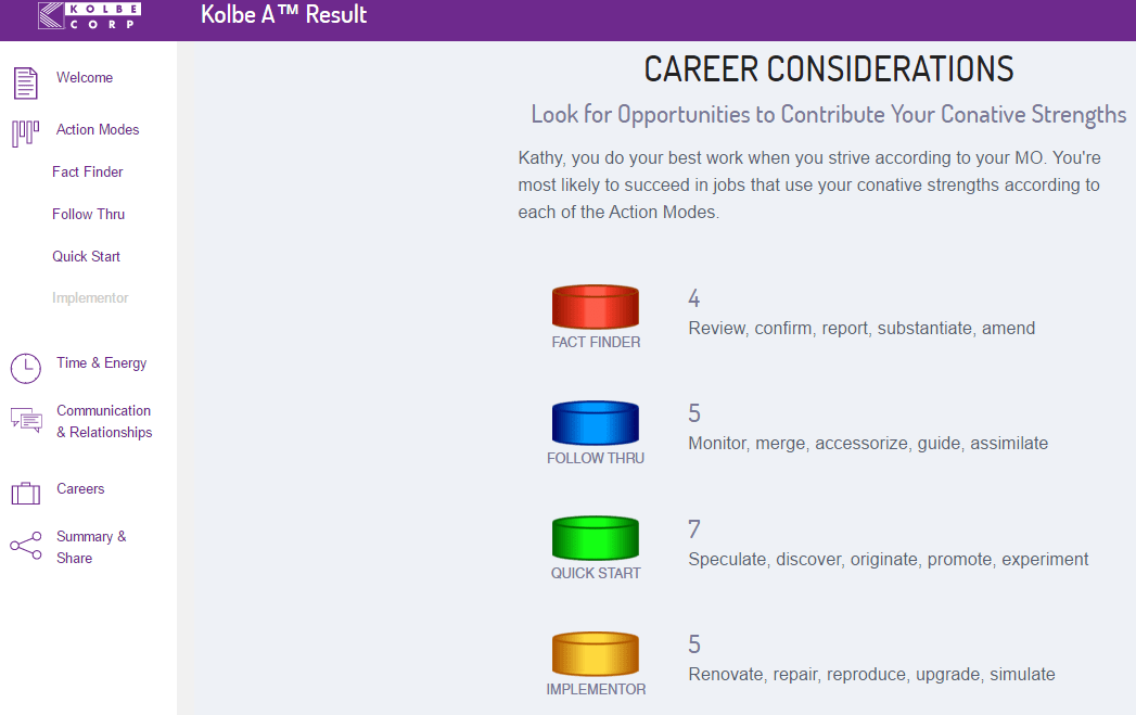 Kolbe-A-Result-career-considerations