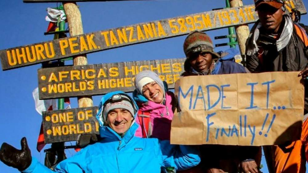 Google CFO Patrick Pichette and wife atop Mt. Kilimanjaro