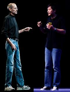 Steve Jobs-mimicking Lei Jun of Xiaomi
