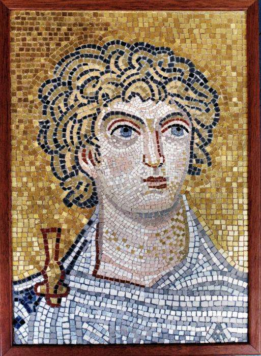 Mosaic of Alexander the Great, who Sucked at Geometry