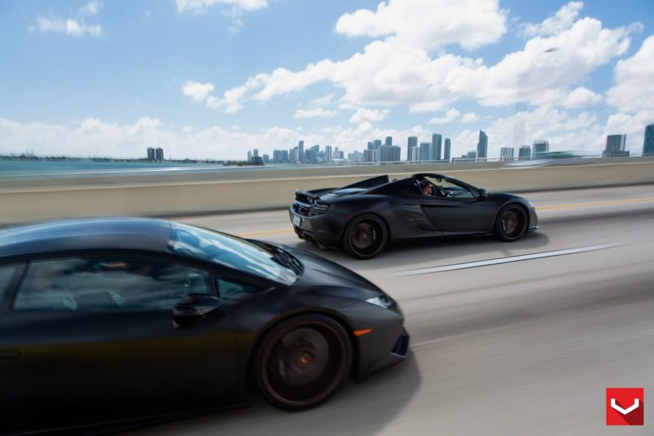 Lamborghini Huracan and McLaren 650S Spider Vossen
