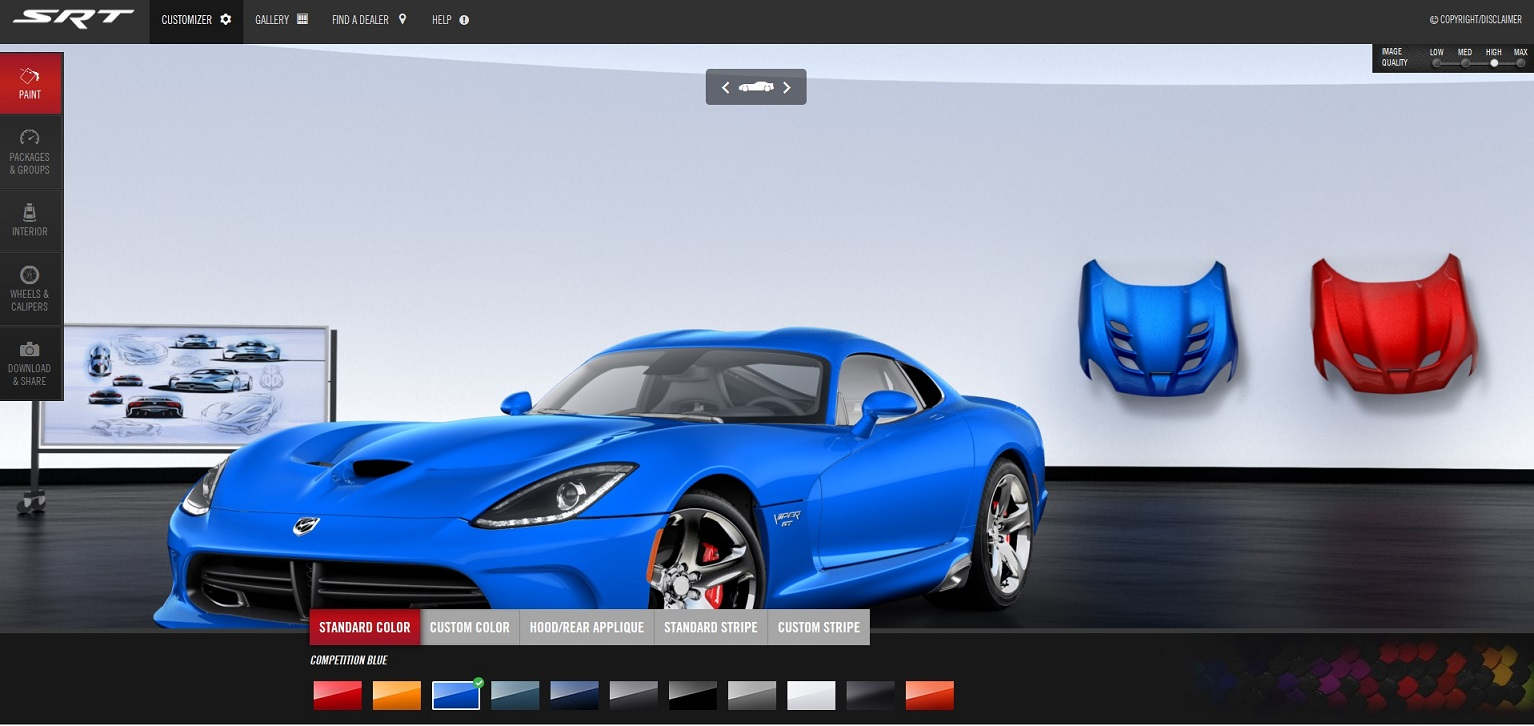 build your own dodge srt viper   right foot down