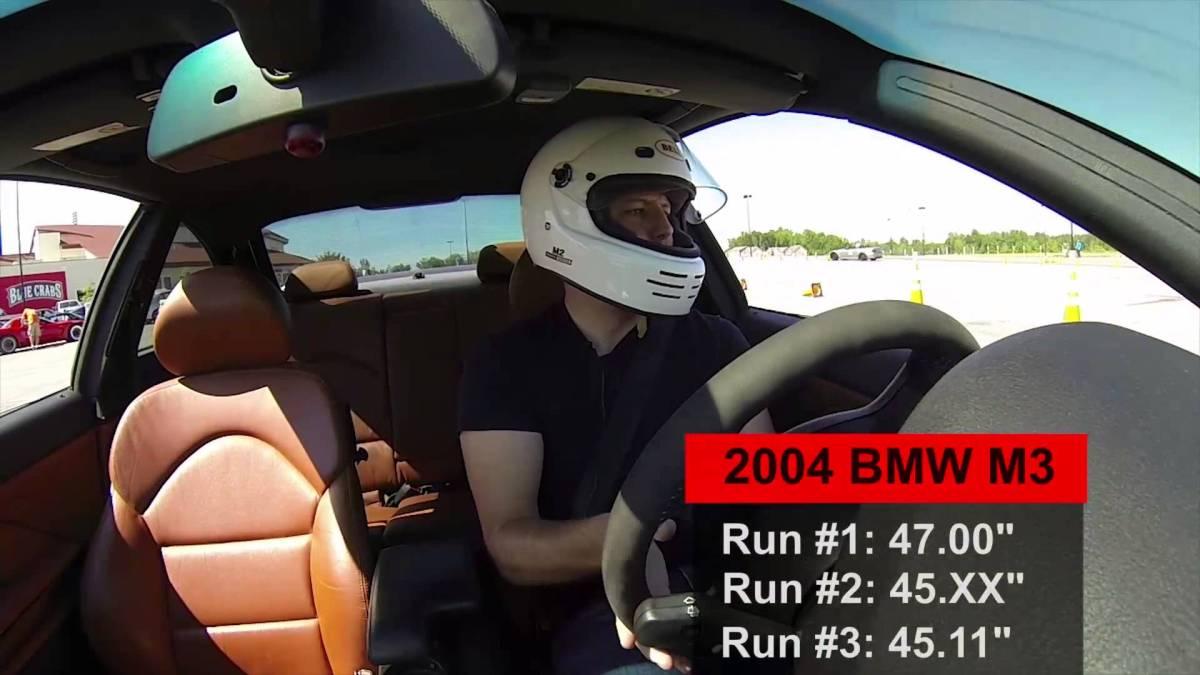 Ford Focus ST versus BMW M3, Autocross