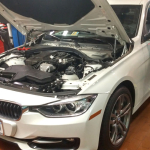 Josh's 2012 BMW 328i in Service Bay
