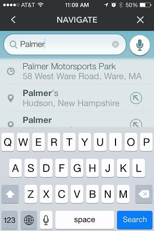 Navigate to Palmer