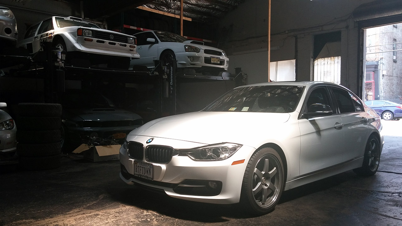 first mods to the f30 bmw 328i 6 if we 39 re counting right foot down. Black Bedroom Furniture Sets. Home Design Ideas