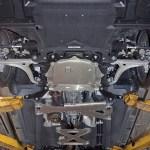 2016 Mazda Miata underside on lift