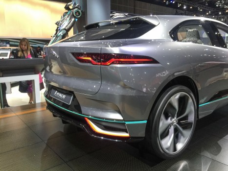 Passenger Rear Quarter View of the Jaguar I-Pace Concept at the 2016 LA Auto Show
